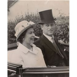 Pair of Queen Elizabeth II and Prince Philip Photographs