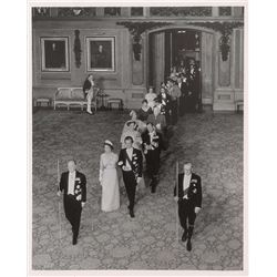 Queen Elizabeth II and Prince Philip Royal Procession Photograph