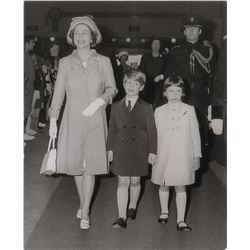 Queen Elizabeth II, Prince Edward, and Lady Sarah Armstrong-Jones Photograph