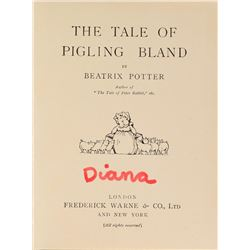 Princess Diana's Personally-Owned Beatrix Potter Pigling Bland Book