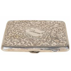 Princess Diana's Personally-Owned and -Used Sterling Silver Engraved Card Holder