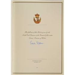 Princess Diana Tribute Signed by Charles Spencer