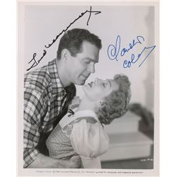 Fred MacMurray and Claudette Colbert