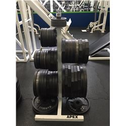 APEX WEIGHT RACK WITH ASSORTED FREE WEIGHTS
