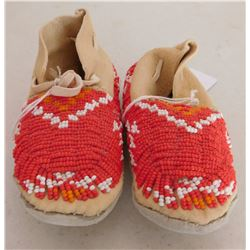 Sioux Beaded Childs Moccasins