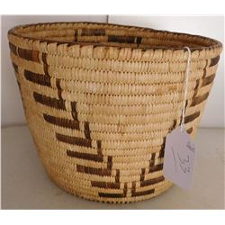 Large Stairstep Basketry Bowl