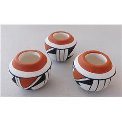 3 Miniature Isleta Pots