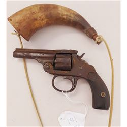 Antique Revolver & Powder Horn