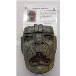 Olmec Jaguar Transformation Mask w/John Jordan COA