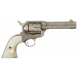 Engraved Colt Model 1873 Single Action .41