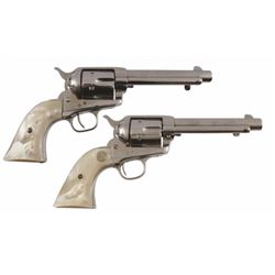Police Captain H. B. Davis' Pair of Colt SAA .45s