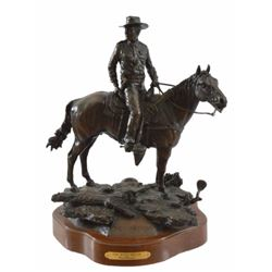 "Clint Peoples ""One Man's Dream"" Bronze Statue 9/50"