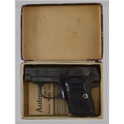 Colt 1908 Hammerless .25 Pistol In Box