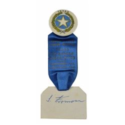 Texas Ex-Ranger Association 1940 Reunion Ribbon