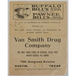 Buffalo Bill Austin Texas Handbill
