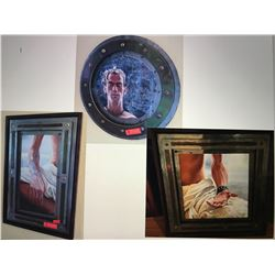 """Eros Biox"" Original Tryptych, David Campbell Wilson - 3 Separate Pieces"
