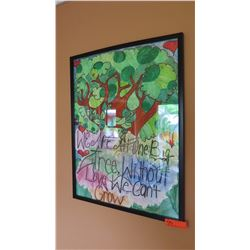 "Framed ""Peace"" Poster - Waianuhea Contest Winner (purchased by estate)"