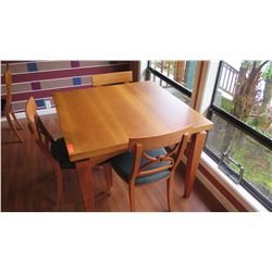 "Dining Table w/Chairs - Expandable To Double Size, Cherrywood, ""Tablo"", W: 39.5 L:39.5 H:30.5"