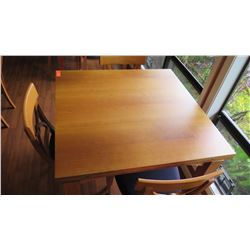 "Dining Table with Chairs - Expandable To Double Size, Cherrywood, ""Tablo"", W: 39.5 L:39.5 H:30.5"