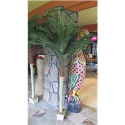 Faux Palm Tree (not including carved bird)