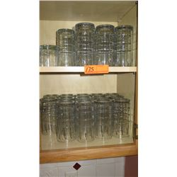 Tall Beverage Glasses (shown on two shelves)