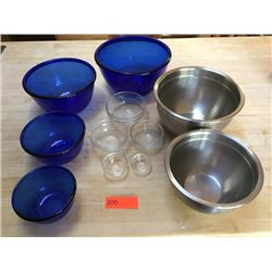 Mixing & Prep Bowls, Glass & Stainless Steel