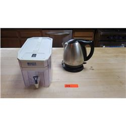Large Brita Water Filter & Stainless Electric Kettle