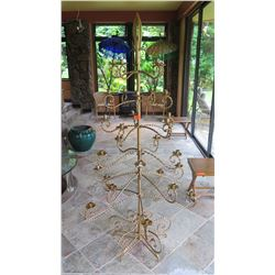 Large Brass Christmas-Tree-Shaped Candelabra (holds taper candles)