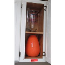 2 Tall Vases and (Orange & Clear)