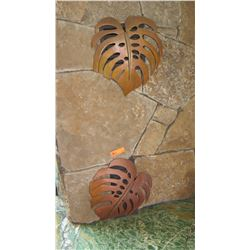 """Qty 2 Copper """"Monstera"""" Fireplace Vent Cover - Custom Made by Erwin Schmitz, W:15"""" H:16/17"""