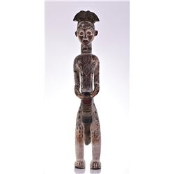 Large African Igbo Wood Power Figure, Nigeria. Car