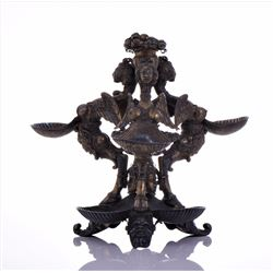 Rare Greek Mythology Tiered Scallop Server Stand R