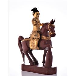 Antique Warrior On Horseback, Wonderfully Preserve