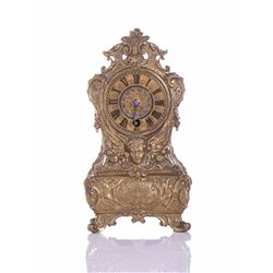 Rare 19th Century Austrian Brass Ormolu Mantle Clo