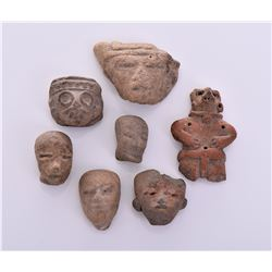 Pre-Columbian Artifact Fragments. Moisture Tested
