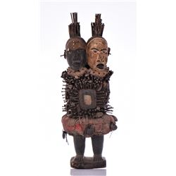 African Congo Yombe Nail Power Figure Fetish, Cong
