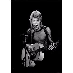 Mick Rock, David Bowie with Acoustic Guitar, Photograph