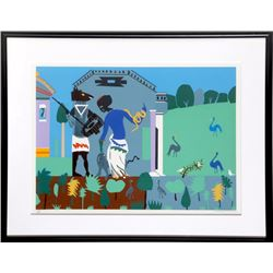 Romare Bearden, Circe Into Swine from the Odysseus Suite, Serigraph