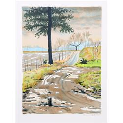 Clarence Holbrook Carter, Country Road, Lithograph