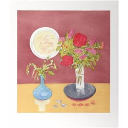 Jane Freilicher, Bouquet, Aquatint Etching