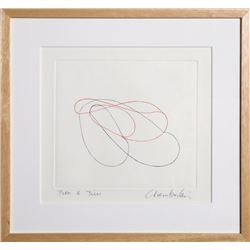 John Chamberlain, Linear Abstract, Drypoint Etching