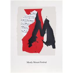 Robert Motherwell, Lincoln Center Mostly Mozart, 25th Anniversary, Lithograph and Screenprint