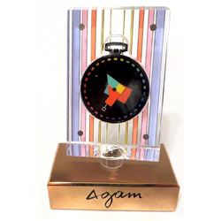 Yaacov Agam, Movado Pocket Watch in Lucite Display Case