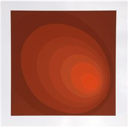 Leonid, Untitled - Red Ombre, Silkscreen