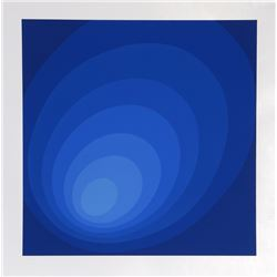 Leonid, Untitled - Blue Ombre, Silkscreen