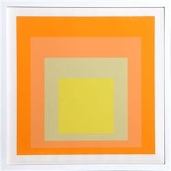 Josef Albers, Interaction of Color: Homage to the Square (Yellow), Silkscreen