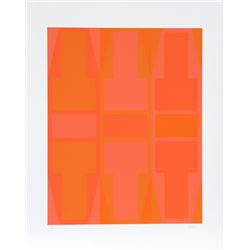 Arthur Boden, T Series (Orange), Serigraph