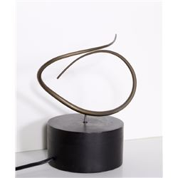Jose de Rivera, Construction No. 78A, Electric Rotating Forged Bronze Rod Sculpture