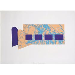 Menashe Kadishman, Untitled - Four Purple Squares, Lithograph