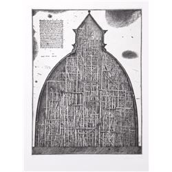 Alexander Brodsky and Ilya Utkin, Dome, Projects 1981 - 1990, Etching
